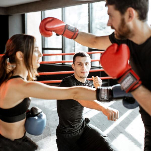 Couple Kickboxing Training